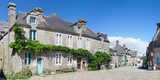 Historical Buildings at the Grand Place  Locronan  Finistere  Brittany  France