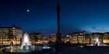 Trafalgar Square at Night  London  England