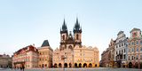 Tyn Cathedral on Old Town Square  Mala Strana  Prague  Bohemia  Czech Republic