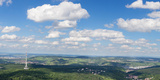 View from Television Tower over Frauenkopf Mountain to Stuttgart  Baden-Wurttemberg  Germany