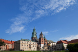 Tourist Groups in the Grounds of the 11th Century Royal Castle  Wawel Hill  Krakow  Poland