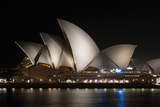 Sydney Opera House Lit Up at Night  Sydney  New South Wales  Australia