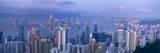 Aerial View of a City  Hong Kong  China
