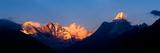 Mountain Range at Dusk  Ama Dablam  Khumbu  Himalayas  Nepal