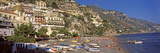 Houses in the Village on a Hill  Spiaggia Di Marina Grande  Positano  Amalfi Coast  Italy