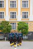 Soldiers of the Presidential Regimental Cavalry  Kremlin  Moscow  Russia