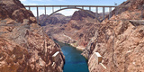Hoover Dam Canyonland and Bridge Connecting Two States Nevada-Arizona  USA