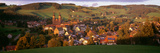 High Angle View of the St Peter's Abbey in the Black Forest  Sankt Peter