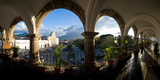 Town Viewed Through from a Palace  Palacio De Los Capitanes Generale  Antigua Guatemala  Guatemala