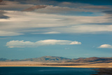 Clouds over a Lake  Mono Lake  Lee Vining  Mono County  California  USA