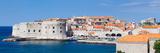 Old Harbor and Old Town of Dubrovnik  Dalmatia  Croatia