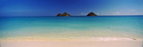 Islands in the Pacific Ocean  Lanikai Beach  Mokulua Islands  Oahu  Hawaii  USA