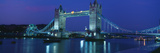 Reflection of a Bridge on Water  Tower Bridge  River Thames  London  England