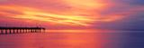 Pier in the Ocean at Sunset  Caspersen Beach  Sarasota County  Venice  Florida  USA