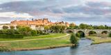 Cite De Carcassonne Seen from Pont Neuf  Carcassonne  Aude  Languedoc-Roussillon  France