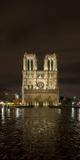 Notre Dame Cathedral at Night  Paris  Ile-De-France  France