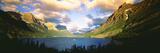 Clouds over a Lake  St Mary Lake  Glacier National Park  Montana  USA