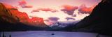 Sunrise over a Lake  St Mary Lake  Glacier National Park  Montana  USA