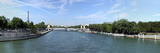 Seine River with Eiffel Tower in the Background  Paris Ile-De-France  France