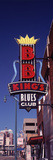 Low Angle View of a Signboard of a Restaurant  BB King's Blues Club  Beale Street  Memphis