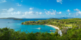High Angle View of the Caneel Bay  St John  Us Virgin Islands