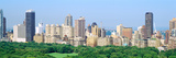 View of Central Park with City in the Background  Manhattan  New York City  New York State  USA