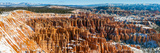 Bryce Canyon Amphitheater after Spring Snowfall  Bryce Canyon National Park  Utah  USA