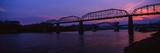Bridge across a River  Walnut Street Bridge  Tennessee River  Chattanooga  Tennessee  USA