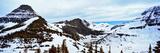 Lake Flowing Through Mountains in Winter  Hidden Lake  Us Glacier National Park  Montana  USA