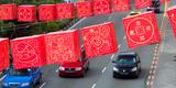 Chinese Lanterns Decoration During Chinese New Year in Chinatown  Singapore