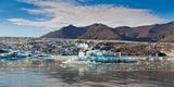 Icebergs  Jokulsarlon Glacial Lagoon  Breidamerkurjokull  Vatnajokull Ice Cap  Iceland