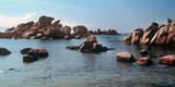 Palombaggia Beach and Rocks  Corsica  France