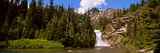 Waterfall in a Forest  Eagle Falls  Two Medicine Valley  Us Glacier National Park  Montana  USA