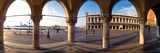 360 Degree View of Buildings Viewed Through Arcade  St Mark's Square  Venice  Veneto  Italy