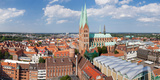 High Angle View of the St Mary's Church  Lubeck  Schleswig-Holstein  Germany