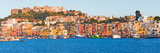 City at Waterfront  Marina Grande  Procida  Bay of Naples  Campania  Italy