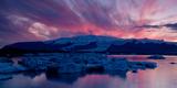 Icebergs in a Glacial Lake  Jokulsarlon Lagoon  Iceland