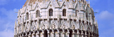 Low Angle View of the Baptistry of St John  Piazza Dei Miracoli  Pisa  Tuscany  Italy