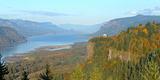 Columbia River Gorge in Autumn  Oregon  USA