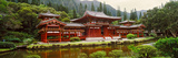 Facade of Byodo-In Temple  Valley of the Temples  Oahu  Hawaii  USA