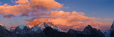 Snowcapped Mountain Peaks  Mt Everest  Lhotse  Dudh Kosi  Solukhumbu  Himalayas  Nepal