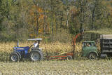 Farm Machinery Harvesting Corn  New England