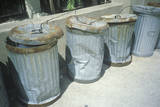 Beaten and Dented New York Trash Cans