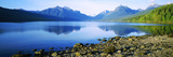 Reflection of Rocks in a Lake  Mcdonald Lake  Glacier National Park  Montana  USA