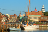 Marina on Spa Creek  Annapolis  Md with the State House in the Background