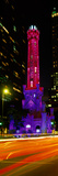 Historic Water Tower Lit Up at Night  Michigan Avenue  Chicago  Cook County  Illinois  USA