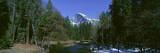 Half Dome and Merced River in Winter  Yosemite National Park  California