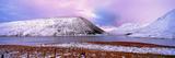 Snow Covered Landscape Reservoir  Megget Reservoir  Scottish Borders  Scotland