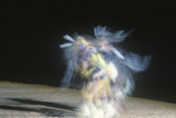Native American Dancer in Motion at Tribal Ceremony  Gallup  New Mexico