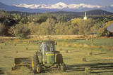 Farm Machinery Mowing in Field  CO